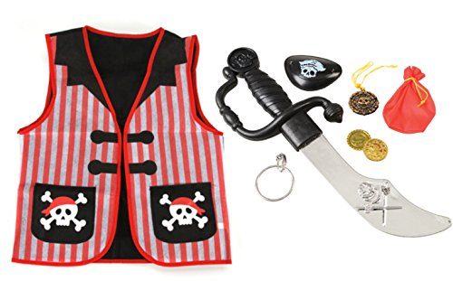 8 Piece Pirate Role Play Dress up -