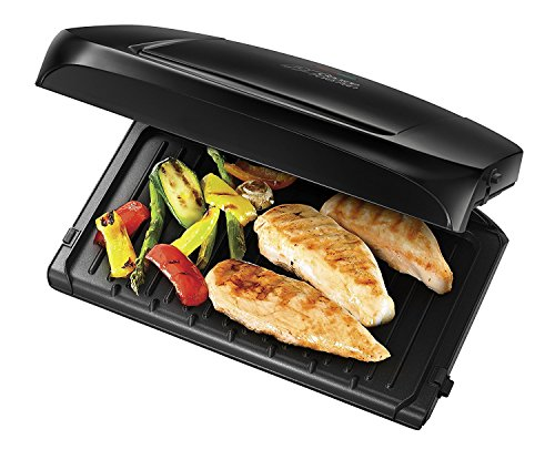 -[ George Foreman 5-Portion Family Grill with Removable Plates 20840 - Black  ]-