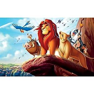 5D Full Drill Lion Diamond Painting Kit,UNIME DIY Diamond Rhinestone Painting Kits for Adults and Children Birds Diamond Arts Craft, 12 x 16 inch (Lion King Diamond Painting)