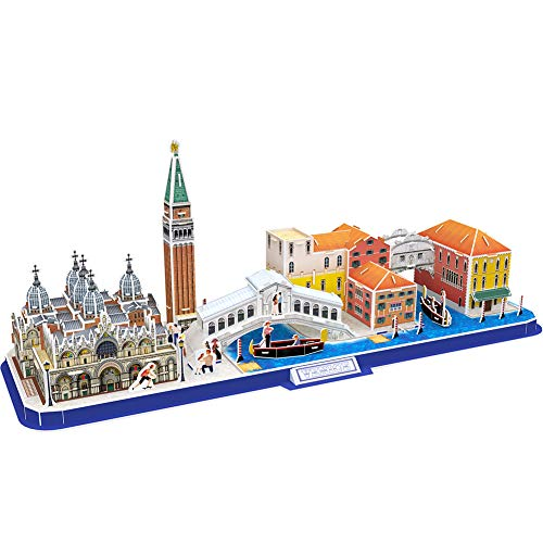 CubicFun 3D Puzzle City Model Kits Toys, Venice Italy Cityline Collection