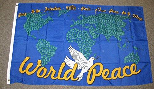 World Peace Map Flag 3x5 Feet Dove 3'X5' New F764