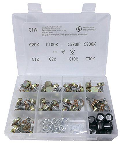 45 pcs Potentiometer Assortment, rev log, reverse logarithmic = C, C1K, C5K, C10K, C20K, C50K, C100K, C250K, C500K, C1M