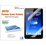 JOTO Premium Screen Protector Film Anti Glare, Anti Fingerprint (Matte Finish) for the ASUS MeMO Pad HD 7 Inch Tablet ME173X with Lifetime Replacement Warranty (3 Pack)