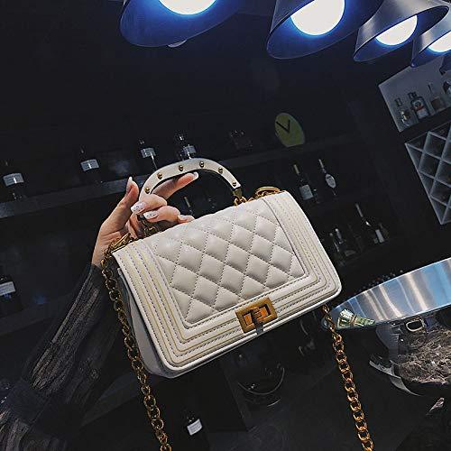 bandoulière à Petit Sac Messenger à chaîne Bag Fashion Femme Blanc Main WSLMHH Petit Sac rétro Sac carré qEFSPFwR