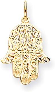 Lex & Lu 10k Yellow Gold Filigree Chamseh Charm