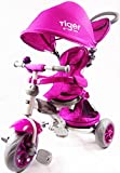 LITTLE TIGER 4 IN 1 KIDS TRIKE TRICYCLE(PURPLE)