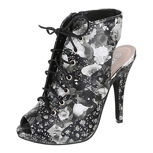 casa Mujer Design de negro Negro Ital Zapatillas tdaqtWT