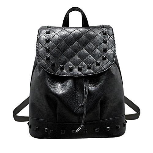 Domybest - Bolso mochila para mujer Gris gris Negro