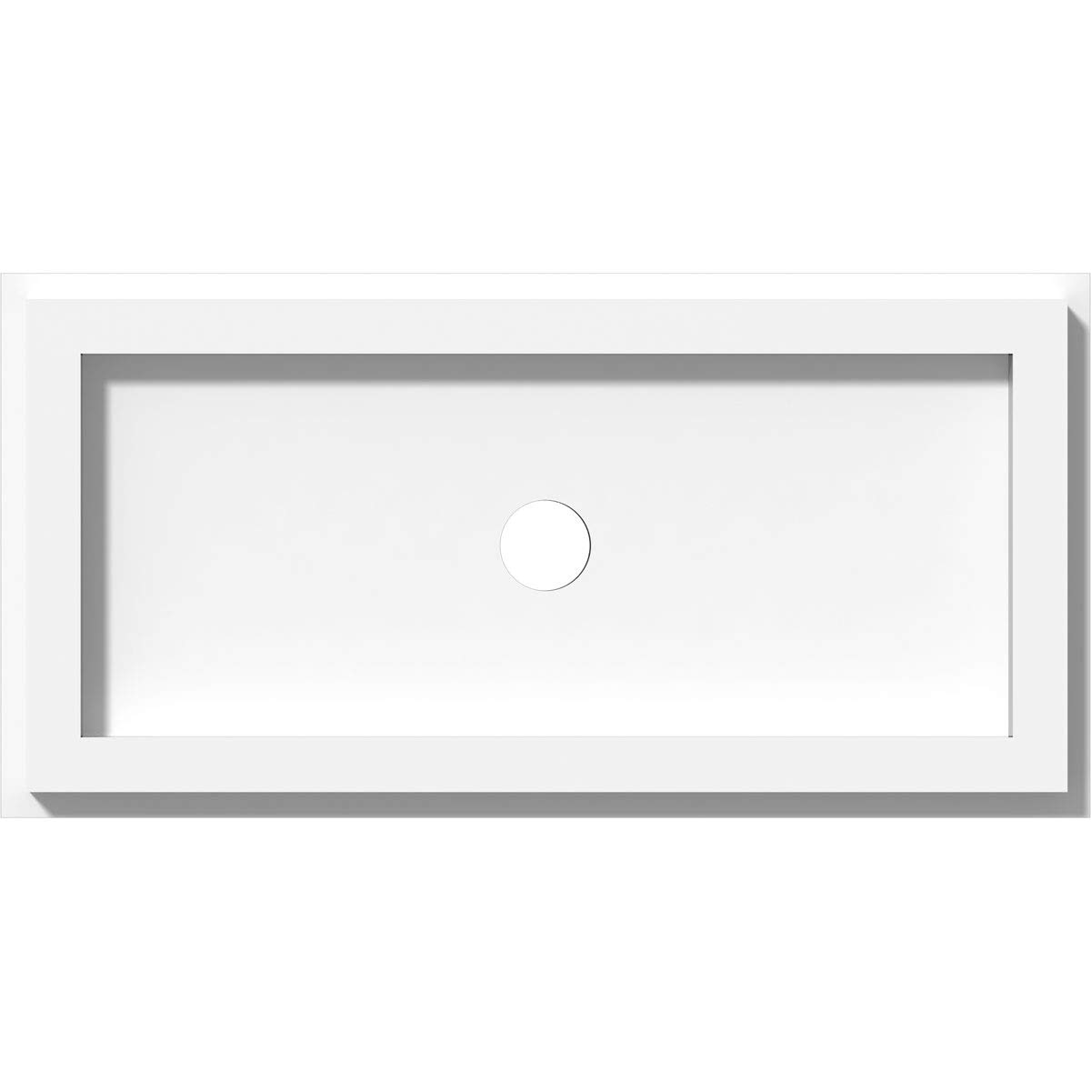 Ekena Millwork CMP12X6RE-01000 Ceiling Medallion 12W x 6H x 1ID x 4C x 1P White