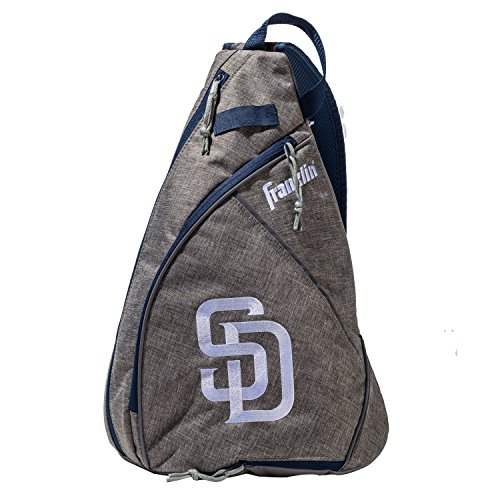 Franklin Sports San Diego Padres Slingback Baseball Crossbody Bag - Shoulder Bag w/Embroidered Logos - MLB Official Licensed Product