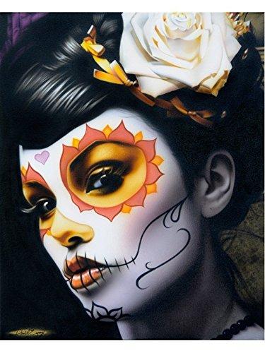 [Victoria by Daniel Esparza Sugar Skull Mask Death Mask Woman Fine Art Print] (Death Dealer Mask)