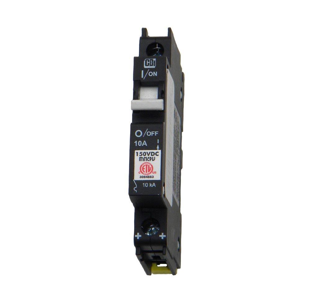 Din Rail Mount Combiner PV Breaker - 10 Amp, 150 VDC, | MNEPV10
