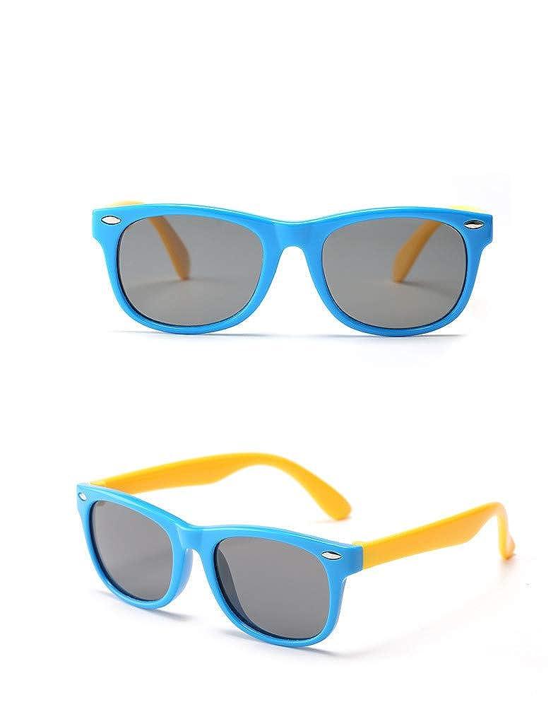 Black HMILYDYK Unsex Kids UV400 Polarized Sunglasses Rubber Flexible Frame Sunglasses for Kids Ages 3-10