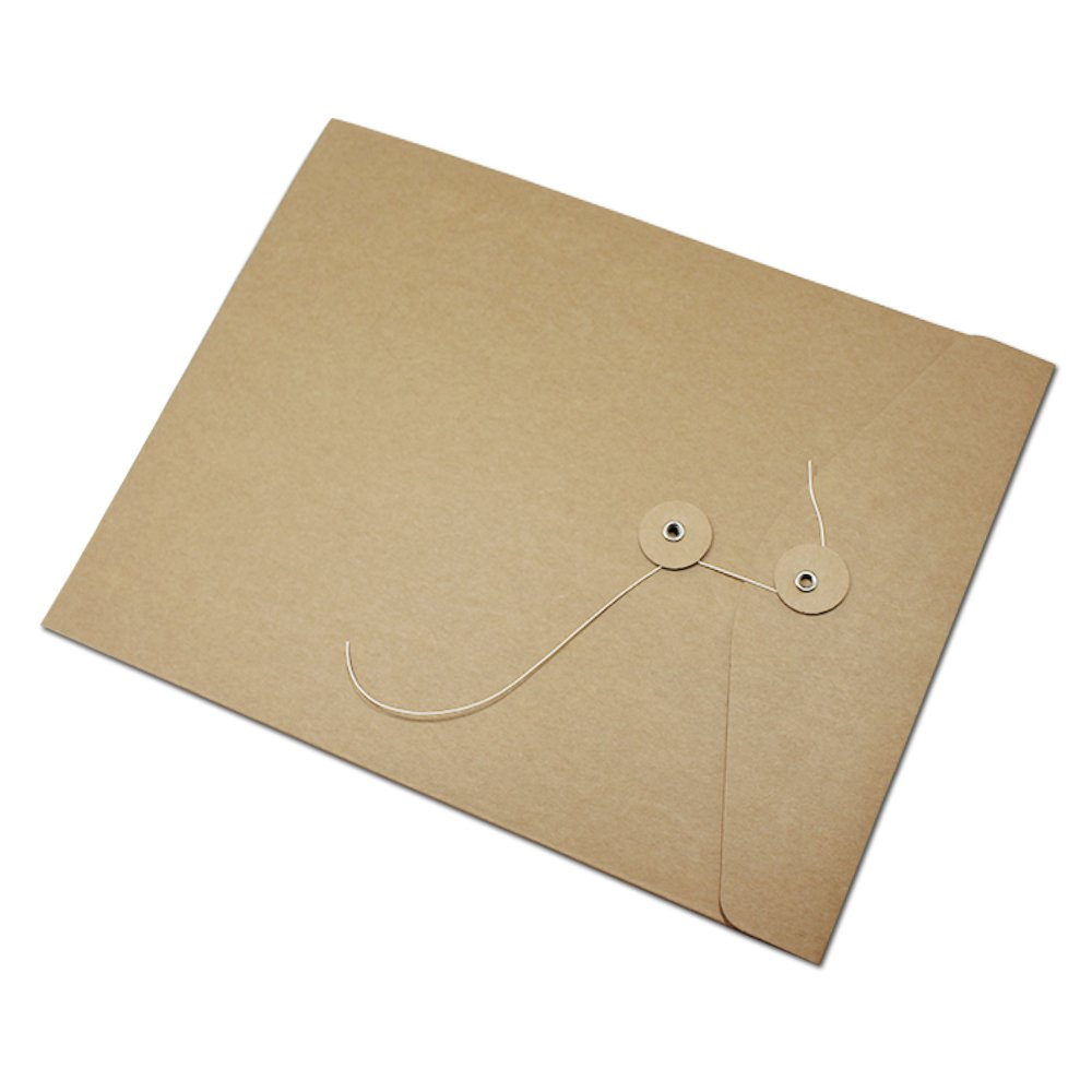 Kraft Paper Document Envelope File Folder Bags Business Project Office Stationery Supplies Contract Material Take Out Container Sleeve Cardboard Organizer Pocket (31x23.5cm (12.2x9.2 inch), 50 Pcs)