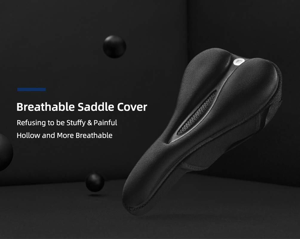 ROCKBROS Bike Seat Cover Gel Comfort Bicycle Saddle Soft Cushion Breathable for Road Mountain Bikes