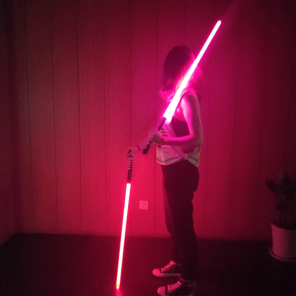 YDD GENIUS Star Wars Lightsaber Metal Aluminum Hilt, Ghost Premium Force FX RGB Led 16 Colors Changing Black Series Light Saber for Adults and Kids, Support Real Heavy Dueling by YDD GENIUS (Image #9)