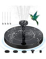 Fuente de energía solar 4 boquillas flotante bomba de agua pequeña, 1.4W bomba de agua para jardín, patio, estanque, pileta y al aire libre, decoración al aire libre