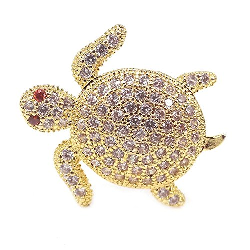 jennysun2010 Zircon Gemstones Cubic Zirconia Pave Turtle Bracelet Connector Charm Beads Clear on Gold 10 pcs per Bag for Bracelet Necklace Earrings Jewelry Making Crafts Design (Turtle Earrings Charm)