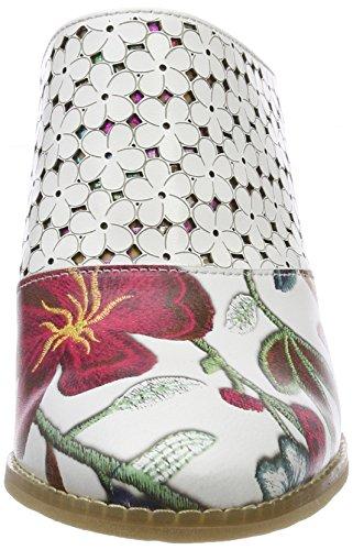 Laura Vita Damen Dalton 018 Pantoletten Weiß (Blanc)