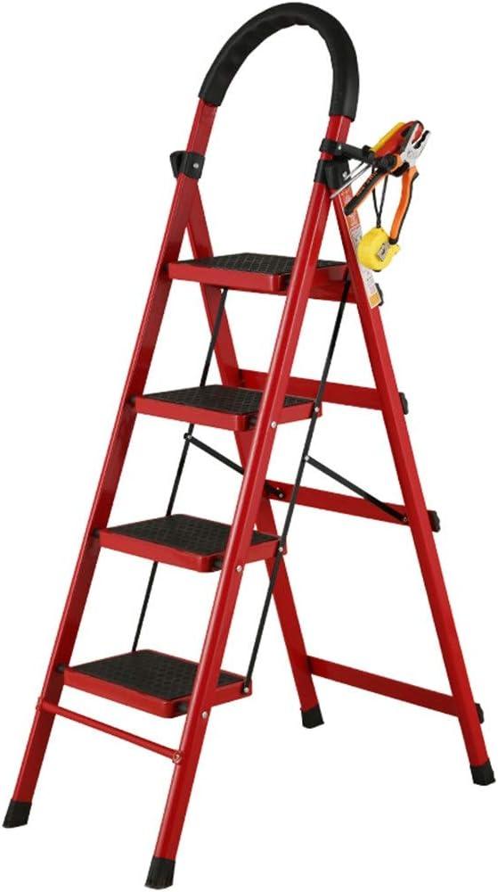 Multifuncional Cuatro Pasos Herramienta Escalera, Escalera de metal al aire libre emplazamiento de la obra Escalera Familia subida de escaleras/el medio ambiente Proceso de lacas y pinturas Hornear: Amazon.es: Bricolaje y herramientas