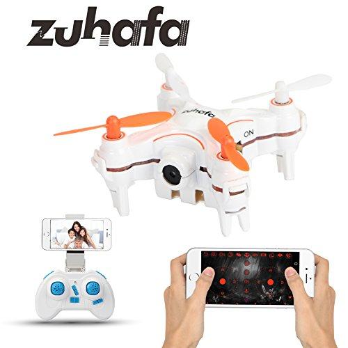 Zuhafa Z1HC Mini RC Drone FPV Wifi RC Quadcopter Remote Control Drone with HD Camera RC Helicopter AltitudeHold white