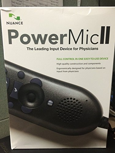 Dictaphone Nuance PowerMic II Speech Recognition Hand Microphone with Cradle
