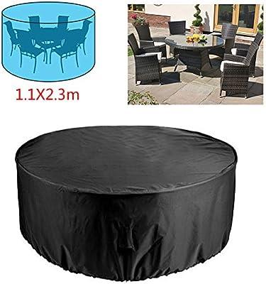 RUILASA - Juego de funda redonda para mesa de patio exterior ...