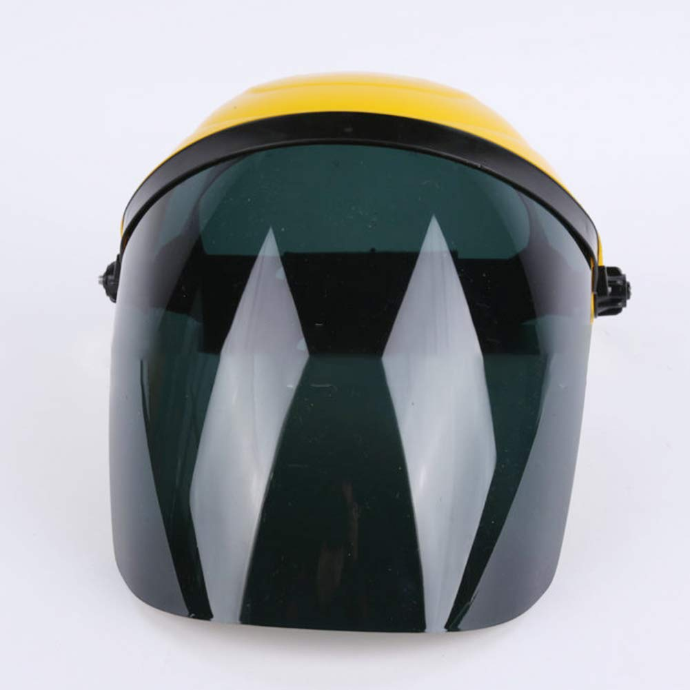 Welders Helmet, Heat-Resistant Mask Protective Electrowelding Clear Safety Face Shield and Visor Screen Safety Mask Eye (Yellow+Gray) ShenYo