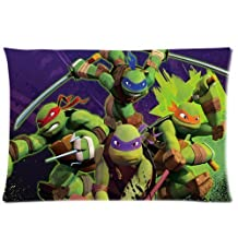 TMNT Teenage Mutant Ninja Turtles Custom Rectangle Zippered Pillow Case Cover Pillow Cases 20x30 (Twin sides) by Generic Pillow cover