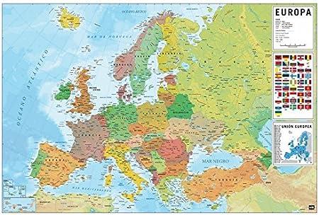 Grupo Erik Editores, S.L. - Póster mapa europa-e grupo erik: Amazon.es: Oficina y papelería