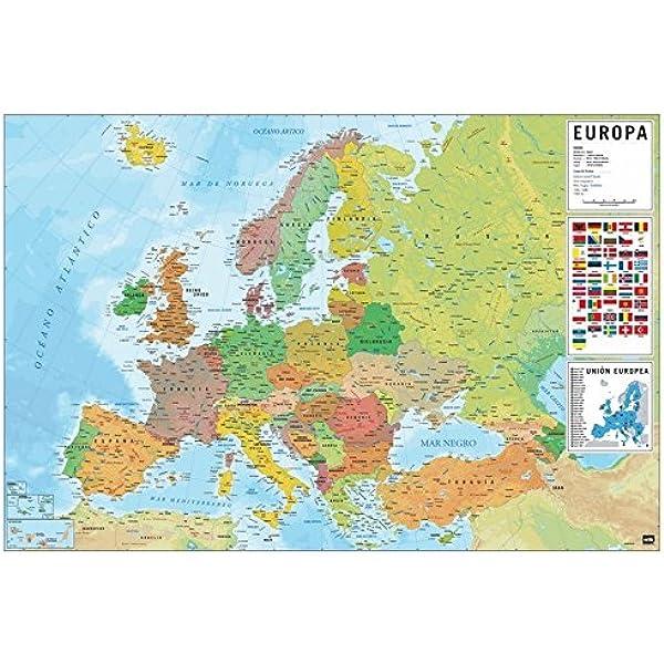 Grupo Erik Editores, S.L. - Póster mapa europa-e grupo erik ...