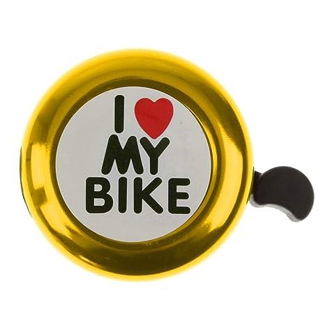 Jushi Timbre de Bicicleta Tono Dorado Sonido Alto Ciclismo ...