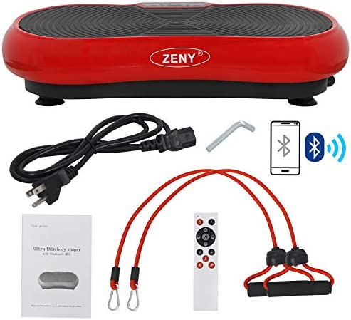 ZENY Fitness Vibration Massage Machine Vibration Massager Whole Full Body Shape Exercise Machine,Vibration Plate Platform,Fit Massage Workout Trainer with Two Bands Remote