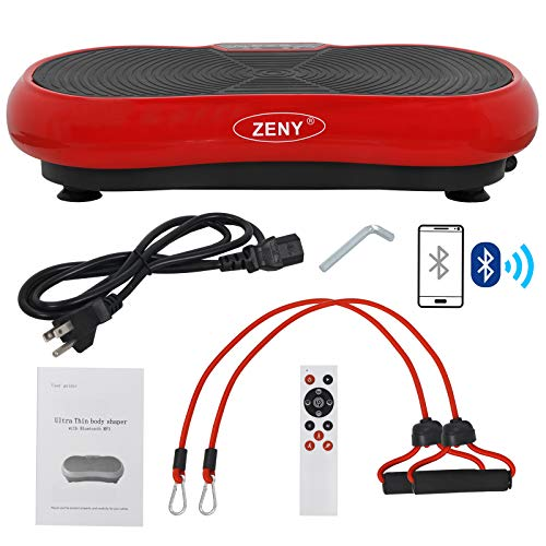 ZENY Fitness Vibration Massage Machine Vibration Massager Whole Full Body Shape Exercise Machine,Vibration Plate Platform,Fit Massage Workout Trainer with Two Bands & Remote
