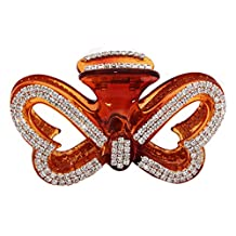 JCPeniel Large Butterfly Fancy Good Quality Rhinestones Claw Clip Jaw Clips For Thick Hair