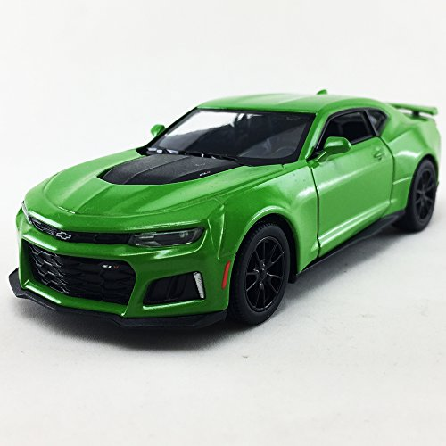 Camaro Nos (2017 Chevrolet Chevy Camaro ZL 1 Green Color Kinsmart 1:38 DieCast Model Toy Car Collectible)