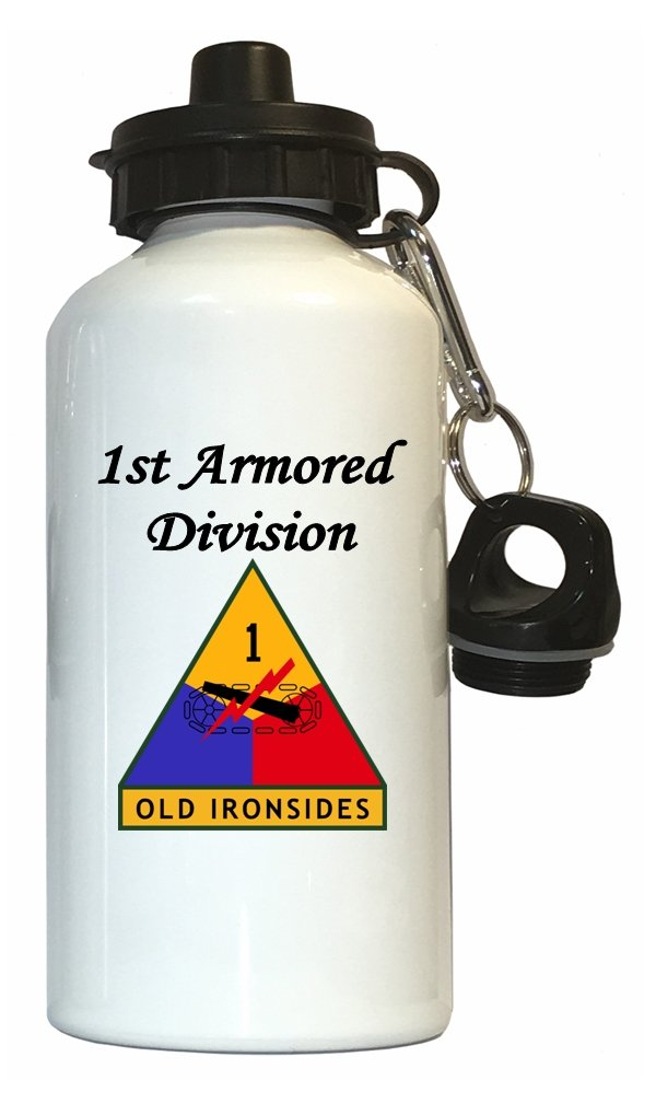 1st Armored Division – US Army水ボトルホワイト B01N3OUDM1