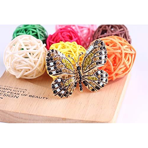 Da.Wa Broche et Pins Forme de Papillon Femme Insigne en Alliage El/égante Bijoux Accessoires #01