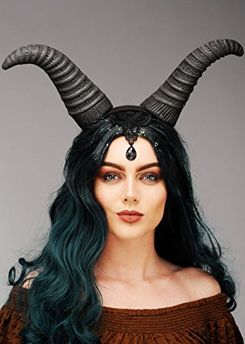 Mujeres Fantasy Wicked Queen Maleficent Style Horns Headpiece
