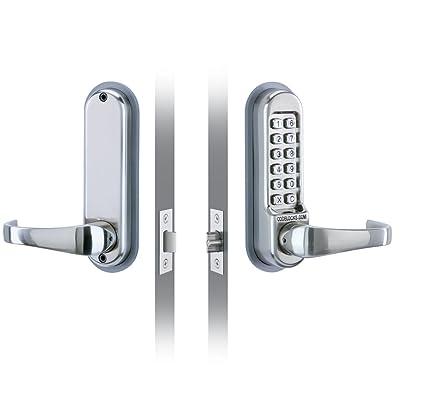 Codelocks 0510 SS - Picaporte para puerta con cerradura de seguridad por código numérico digital (
