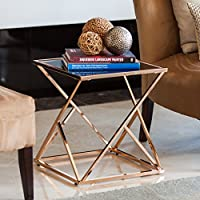 End Table in Rose Gold Finish