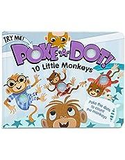 Melissa & Doug Children's Book - Poke-a-Dot: 10 Little Monkeys (Board Book with Buttons to Pop)