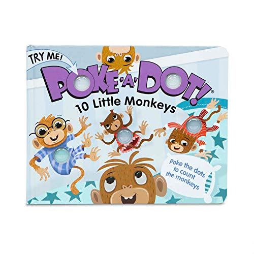 Melissa & Doug Children's Book – Poke-a-Dot: 10 Little Monkeys (Board Book with Buttons to Pop, Great Gift for Girls and Boys – Best for 3, 4, 5 Year Olds and Up)