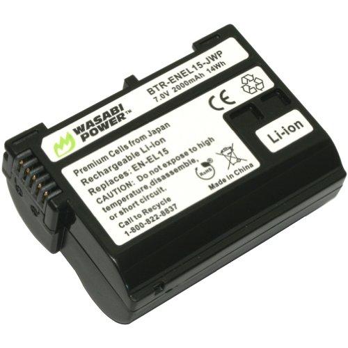Wasabi Power Battery for Nikon EN-EL15 and Nikon 1 V1, D600, D610, D800, D800E, D810, D7000, D7100