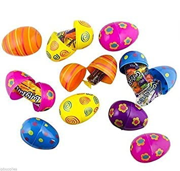 20 assorted patterned fillable plastic surprise eggs fill with 20 assorted patterned fillable plastic surprise eggs fill with easter hunt gifts and chocolate negle Choice Image