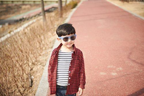 Lunettes de soleil Charmeleon- Enfant 4 à 10 années , bleu à vert, et un étui lunettes de soleil Yoccoes - en forme de Lapin Argent