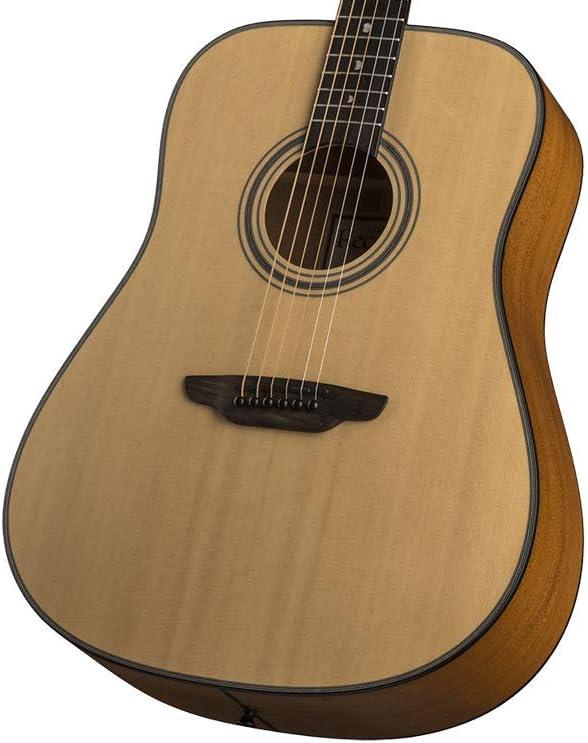 Luna Model ART REC D Guitarra acústica sólida, paquete de funda ...
