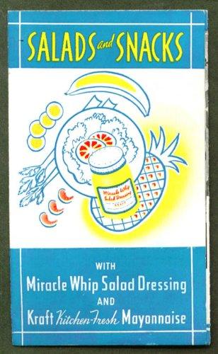 Miracle Whip Kraft Mayonnaise recipe folder ca 1940s