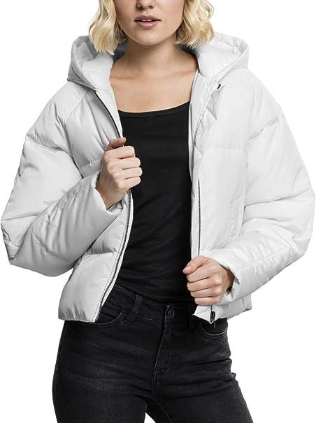 Urban Classics Damen Ladies Hooded Oversized Puffer Jacket Jacke, Weiß (Offwhite 555), Medium