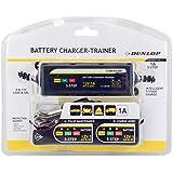 DUNLOP Chargeur de batterie Auto/Moto avec technologie à charge lente